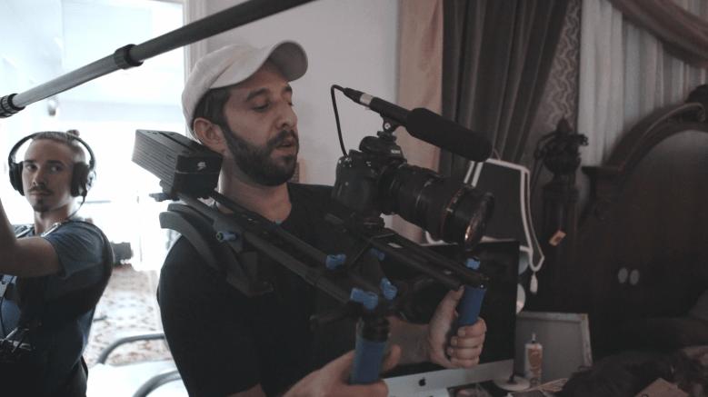 "Ben Berman shooting ""Untitled Amazing Johnathan Documentary"""