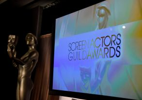 A Screen Actors Guild statue appears alongside a screen on stage at the nominations announcement for the 25th annual Screen Actors Guild Awards at the Pacific Design Center, in West Hollywood, Calif. The show will be held on Sunday, Jan. 27, 2019, in Los Angeles25th Annual SAG Awards - Nominations, Los Angeles, USA - 12 Dec 2018