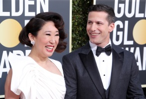 Sandra Oh and Andy Samberg76th Annual Golden Globe Awards, Arrivals, Los Angeles, USA - 06 Jan 2019