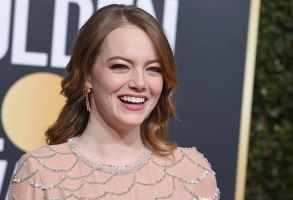 Emma Stone arrives at the 76th annual Golden Globe Awards at the Beverly Hilton Hotel, in Beverly Hills, Calif76th Annual Golden Globe Awards - Arrivals, Beverly Hills, USA - 06 Jan 2019