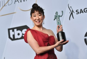 Sandra Oh - Outstanding Performance by a Female Actor in a Drama Series - 'Killing Eve'25th Annual Screen Actors Guild Awards, Press Room, Los Angeles, USA - 27 Jan 2019