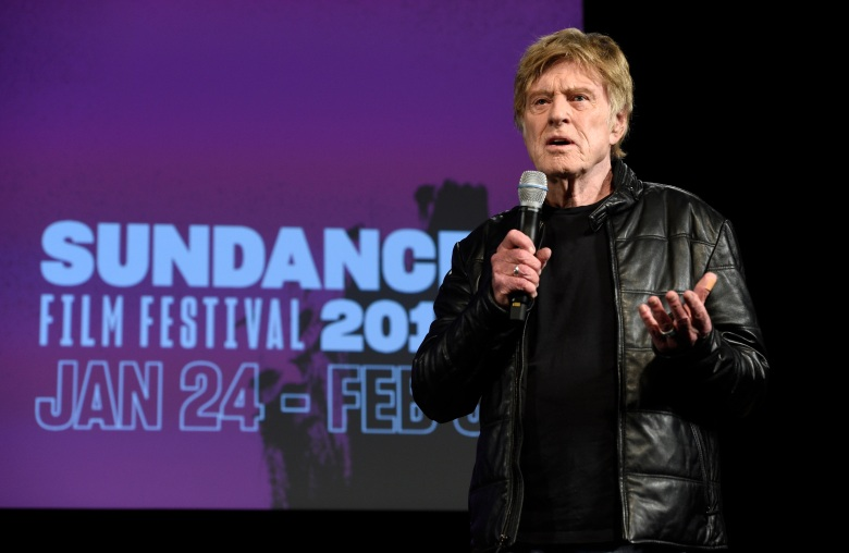 Robert Redford, president and founder of the Sundance Institute, addresses reporters during the opening day press conference at the 2019 Sundance Film Festival, in Park City, Utah2019 Sundance Film Festival - Opening Day Press Conference, Park City, USA - 24 Jan 2019