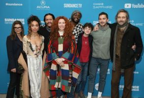 "Alma Har'el, Laura San Giacomo, FKA Twigs, Clifton Collins, Byron Bowers, Noah Jupe, Shia LaBeouf, Craig Stark. Director Alma Har'el, fourth from left, poses with actors from left to right, Laura San Giacomo, FKA Twigs, Clifton Collins, Byron Bowers, Noah Jupe, Shia LaBeouf, and Craig Stark at the premiere of ""Honey Boy"" during the 2019 Sundance Film Festival, in Park City, Utah2019 Sundance Film Festival - ""Honey Boy"" Premiere, Park City, USA - 25 Jan 2019"