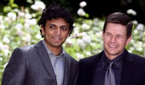 Us Film Director M Night Shyamalan (l) and Us Actor Mark Wahlberg Pose For a Photo During the Presentation of the Film 'The Happening' in Rome Italy 26 May 2008 the Film is a Paranoid Thriller About a Family on the Run From a Natural Crisis That Presents a Large-scale Threat to Humanity Italy RomeItaly Cinema - May 2008