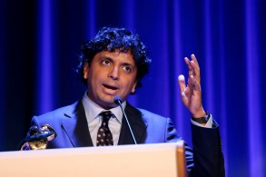 Indian-US film director M. Night Shyamalan poses for the photographers after receiving the honorary award during the Sitges Fantastic Film Festival, in Sitges, near Barcelona, Spain, 13 October 2018. The event officially runs from 04 to 14 October.Sitges Fantastic Film Festival, Spain - 13 Oct 2018