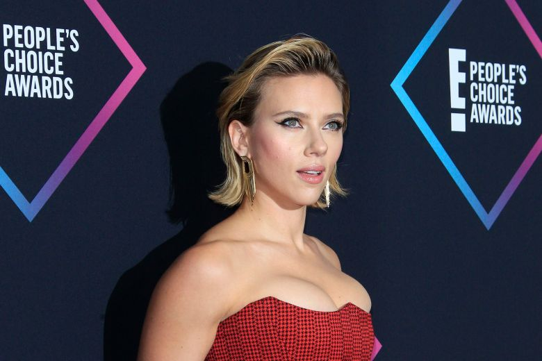 Scarlett Johansson poses in the press room of the 2018 People's Choice Awards at Barker Hangar in Santa Monica, California, USA, 11 November 2018.Press Room - 2018 People's Choice Awards, Santa Monica, USA - 12 Nov 2018