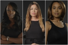 """Faith Rodgers, Lizzette Martinez, and Jerhonda Pace, featured in """"Surviving R. Kelly."""""""