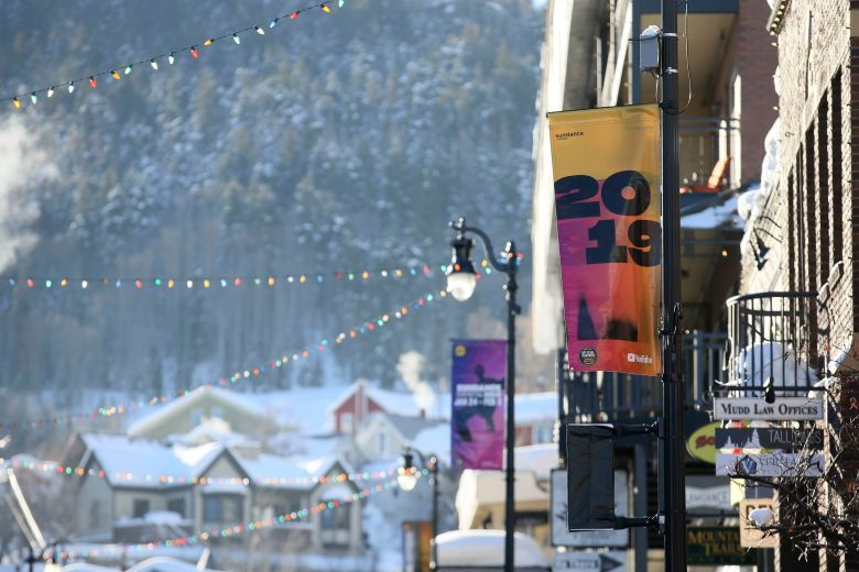 "The sun rises and shines on Main Street before the morning premiere of the ""Leaving Neverland"" Michael Jackson documentary film at the Egyptian Theatre on Main Street during the 2019 Sundance Film Festival, in Park City, Utah2019 Sundance Film Festival - Day 2, Park City, USA - 25 Jan 2019"