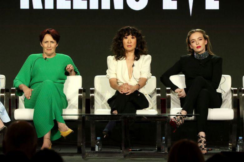 "Fiona Shaw, Sandra Oh, and Jodie Comer, ""Killing Eve"" TCA panel"