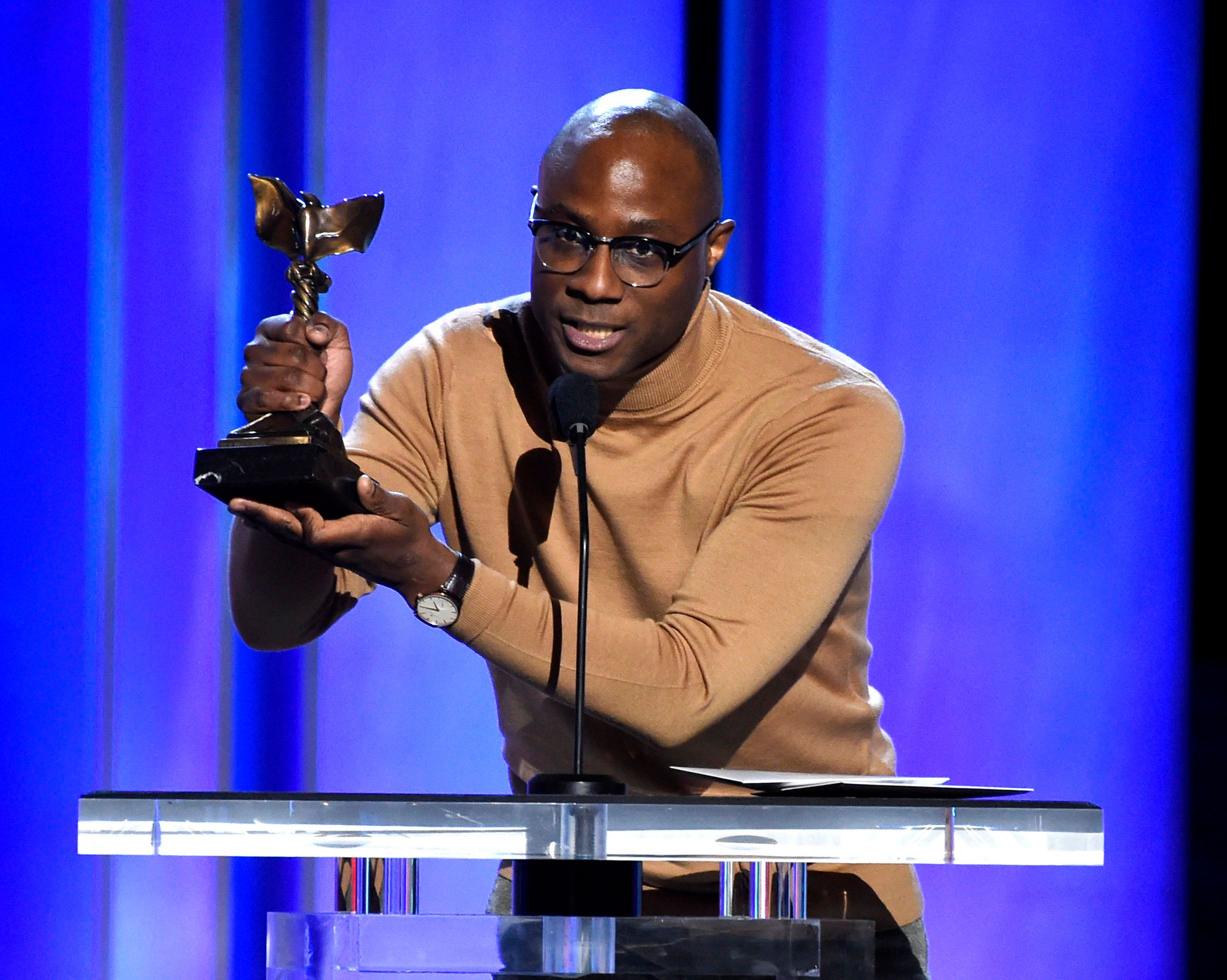 "Barry Jenkins accepts the award for best director for ""If Beale Street Could Talk"" at the 34th Film Independent Spirit Awards, in Santa Monica, Calif2019 Film Independent Spirit Awards - Show, Santa Monica, USA - 23 Feb 2019"