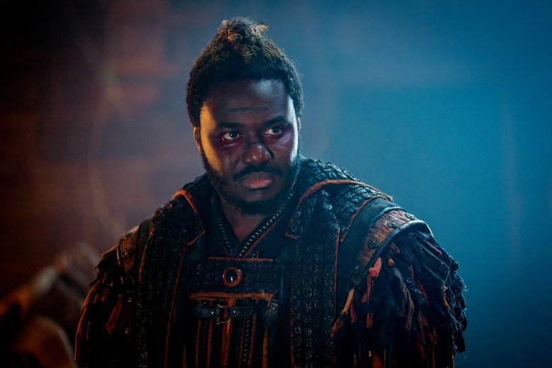 Babou Ceesay as Pilgrim - Into the Badlands _ Season 3, Episode 9- Photo Credit: Aidan Monaghan/AMC