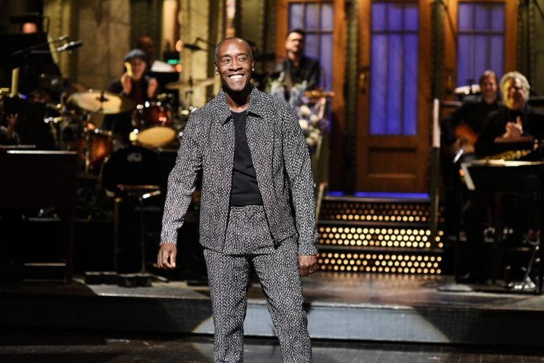 "SATURDAY NIGHT LIVE -- ""Don Cheadle"" Episode 1759 -- Pictured: Host Don Cheadle during the Monologue on Saturday, February 16, 2019 -- (Photo by: Will Heath/NBC)"