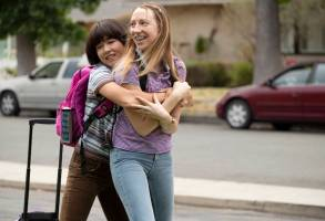"PEN15 ""Ojican"" Episode 103 - Maya feels a tickle down there which becomes kind of an addiction, distracting her from her best friend who really needs her. Maya (Maya Erskine) and Anna (Anna Konkle)"