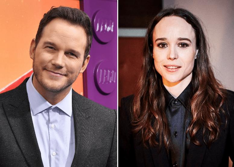 Chris Pratt and Ellen Page