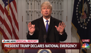 Alec Baldwin Declares a National Emergency on 'SNL': 'Wall Works'