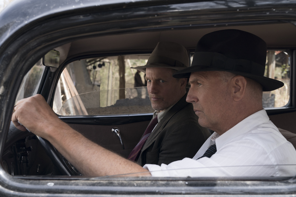 "THE HIGHWAYMEN (2019) - pictured L-R: Woody Harrleson (""Maney Gault"")and Kevin Costner (""Frank Hamer"") Photo by Hilary B Gayle / Courtesy of Netflix_DSC2612.dng"