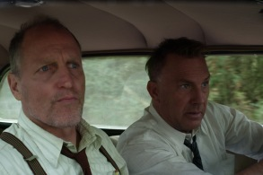"THE HIGHWAYMEN (2019) - pictured L-R Woody Harrelson (""Maney Gault""), Kevin Costner (""Frank Hamer"")"