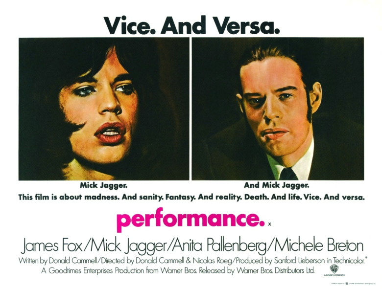 Poster for the Film Performance by Donald Cammel and Nicolas Roeg