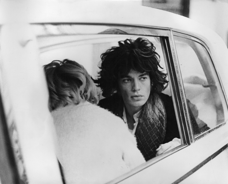 Mick Jagger in Rolls-Royce in Performance