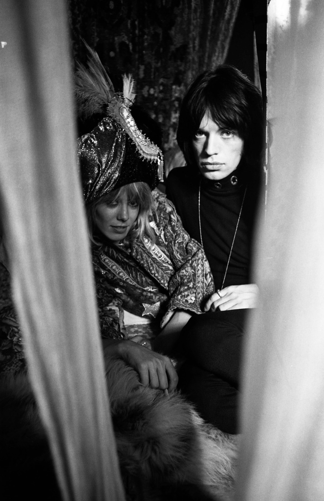 Anita Pallenberg and Mick Jagger, photographed by Michael Cooper