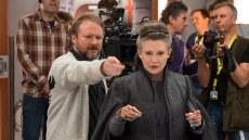 "Rian Johnson on ""The Last Jedi"" set."