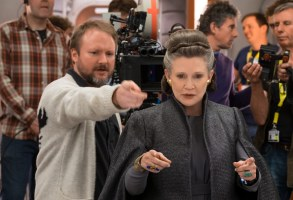 "Rian Johnson on ""The Last Jedi"" set."