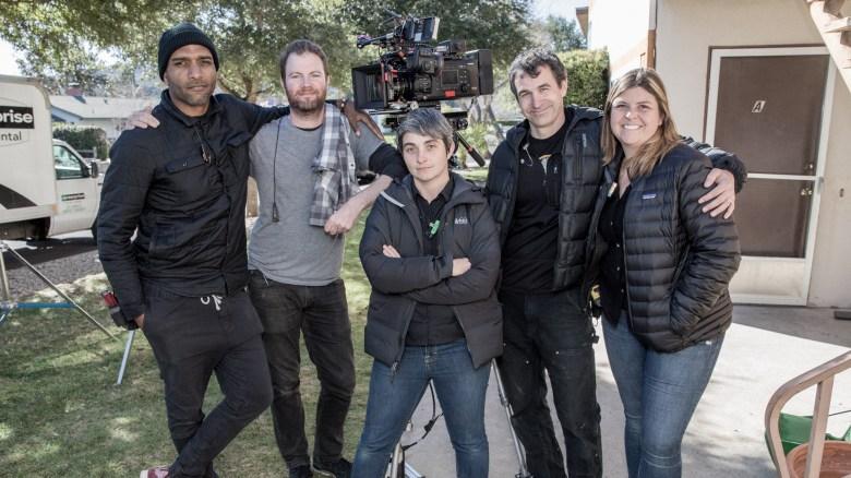 """Paddleton"" Camera team: Greg Hatton, Nathan Miller, Alex Cason, Tadd Sackville-West, Alicia Pharris"