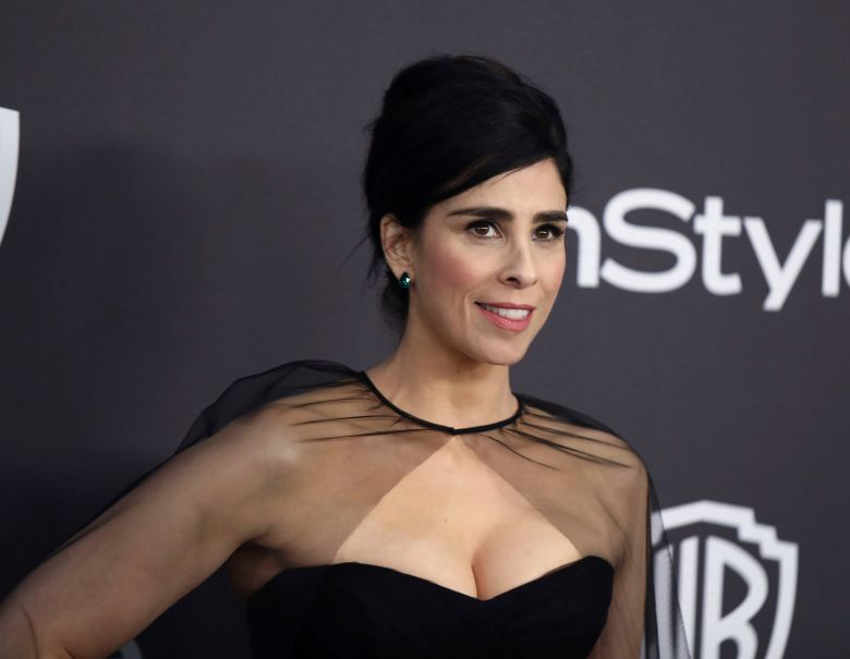 Sarah Silverman arrives at the InStyle and Warner Bros. Golden Globes afterparty at the Beverly Hilton Hotel, in Beverly Hills, Calif76th Annual Golden Globe Awards - InStyle and Warner Bros. Afterparty, Beverly Hills, USA - 06 Jan 2019