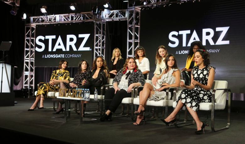 Stephanie Danler, Ella Purnell, Emily Browning, Yetide Badaki, Caitriona Balfe, Maril Davis, La La Anthony, Tanya Saracho, Melissa Barrera and Mishel PradaStarz Fiercely Female Panel, TCA Winter Press Tour, Los Angeles, USA - 12 Feb 2019