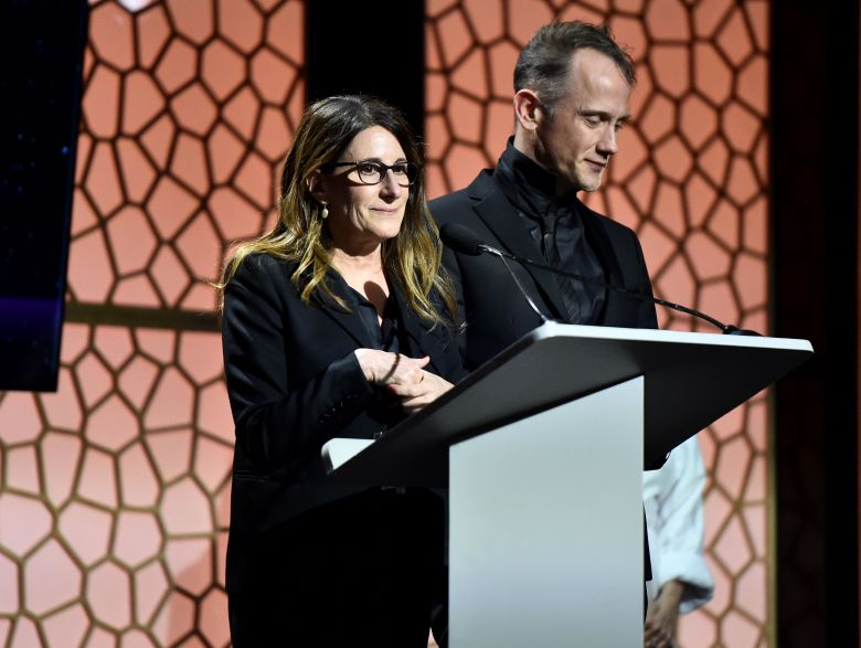 Image result for Nicole Holofcener and Jeff Whitty writers guild awards images