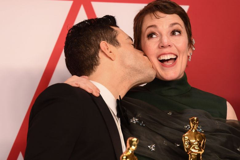 Olivia Colman - Lead Actress - 'The Favourite' and Rami Malek - Lead Actor - 'Bohemian Rhapsody'91st Annual Academy Awards, Press Room, Los Angeles, USA - 24 Feb 2019