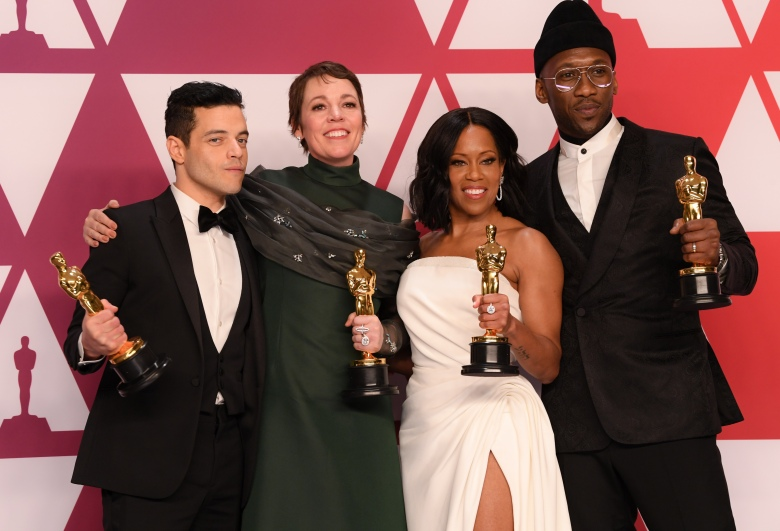 Rami Malek - Lead Actor - 'Bohemian Rhapsody', Olivia Colman - Lead Actress - 'The Favourite', Regina King - Supporting Actress - 'If Beale Street Could Talk'91st Annual Academy Awards, Press Room, Los Angeles, USA - 24 Feb 2019