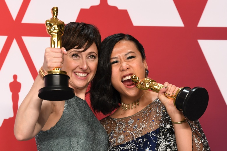 Becky Neiman-Cobb and Domee Shi - Animated Short - 'Bao'91st Annual Academy Awards, Press Room, Los Angeles, USA - 24 Feb 2019