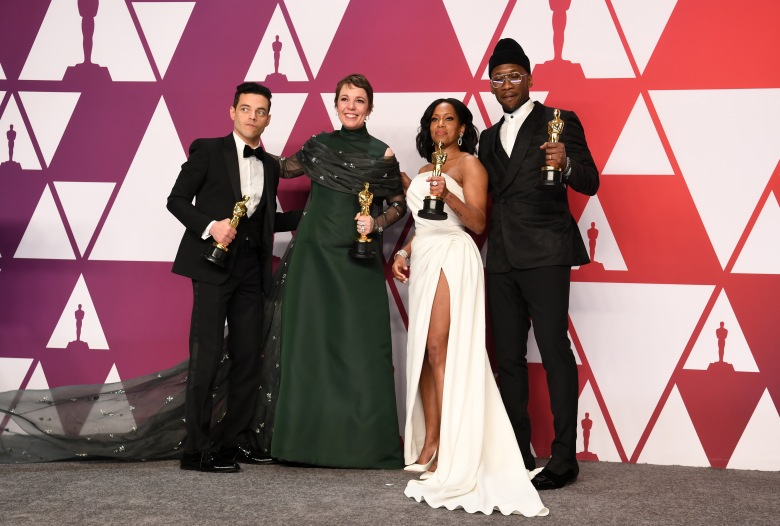 Rami Malek - Lead Actor - 'Bohemian Rhapsody', Olivia Colman - Lead Actress - 'The Favourite', Regina King - Supporting Actress - 'If Beale Street Could Talk' and Mahershala Ali - Supporting Actor - 'Green Book'91st Annual Academy Awards, Press Room, Los Angeles, USA - 24 Feb 2019