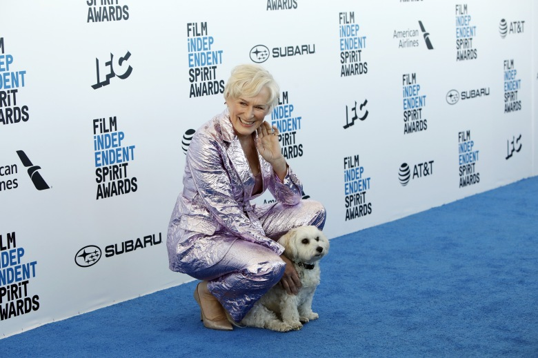 Glenn Close arrives for the 2019