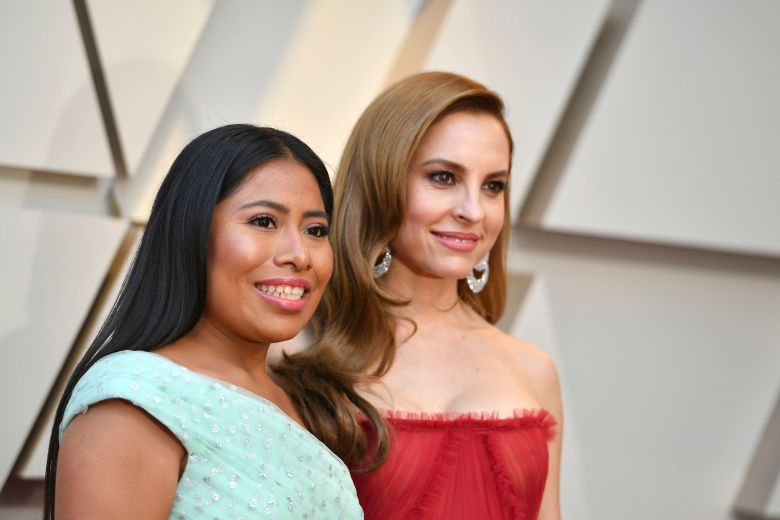 Yalitza Aparicio, Marina de Tavira. Yalitza Aparicio, left, and Marina de Tavira arrive at the Oscars, at the Dolby Theatre in Los Angeles91st Academy Awards - Arrivals, Los Angeles, USA - 24 Feb 2019