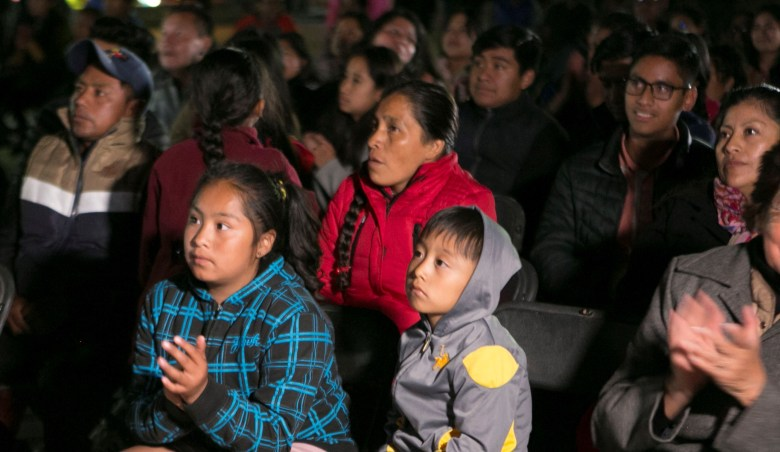Inhabitants of the town of Tlaxiaco, in the state of Oaxaca, Mexico, birthplace of actress Yalitza Aparicio, follow the live broadcast of the Oscar awards, 24 February 2019. Alfonso Cuaron won Best Director Award, Best Achievement in Cinematography Award and Best Foreign Language Film Award for 'Roma'.Oscars viewing, Tlaxiaco, Mexico - 25 Feb 2019