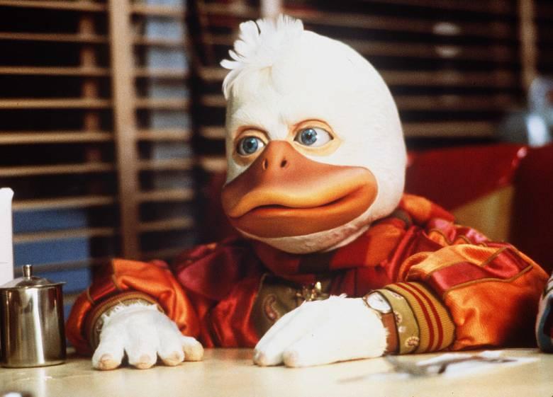 Editorial use only. No book cover usage.Mandatory Credit: Photo by Universal/Kobal/REX/Shutterstock (5882015j)Howard The Duck (1986)Howard The Duck - 1986Director: Willard HuyckUniversalUSAScene StillComedyHoward