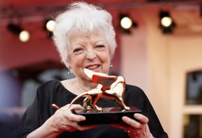Thelma Schoonmaker with her Golden Lion for Lifetime Achievement at the Venice Film Festival