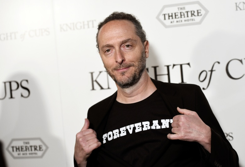 "Emmanuel Lubezki, cinematographer of ""Knight of Cups,"" poses at the premiere of the film at The Theatre at Ace Hotel, in Los Angeles. Lubezki won his third consecutive Academy Award for Best Cinematography Sunday for his work in ""The RevenantLA Premiere of ""Knight of Cups"" - Arrivals, Los Angeles, USA"