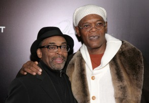 "Director Spike Lee, left, and actor Samuel L. Jackson, right, attend a screening of ""Oldboy"" presented by FilmDistrict & Complex Media with the Cinema Society on in New YorkNY Special Screening of Oldboy, New York, USA - 11 Nov 2013"