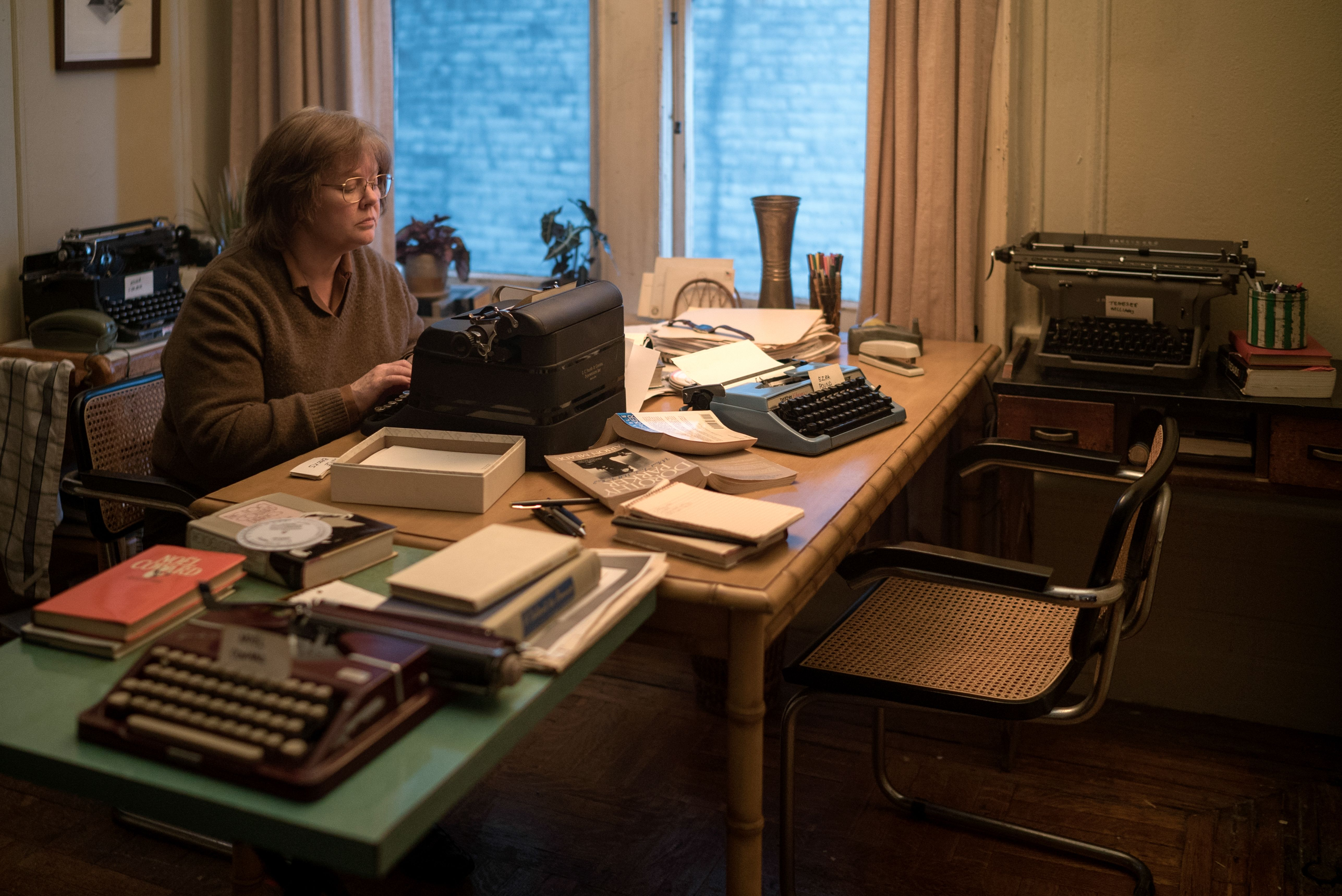 Editorial use only. No book cover usage.Mandatory Credit: Photo by M Cybulski/20thCenturyFox/Kobal/REX/Shutterstock (9927691i)Melissa McCarthy as Lee Israel'Can You Ever Forgive Me?' Film - 2018When Lee Israel falls out of step with current tastes, she turns her art form to deception. An adaptation of the memoir Can You Ever Forgive Me?, the true story of best-selling celebrity biographer Lee Israel.