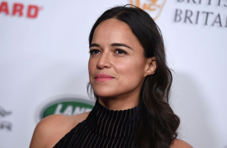 Michelle Rodriguez arrives at the 2018 BAFTA Los Angeles Britannia Awards at the Beverly Hilton on in Beverly Hills, Calif2018 BAFTA Los Angeles Britannia Awards, Beverly Hills, USA - 26 Oct 2018