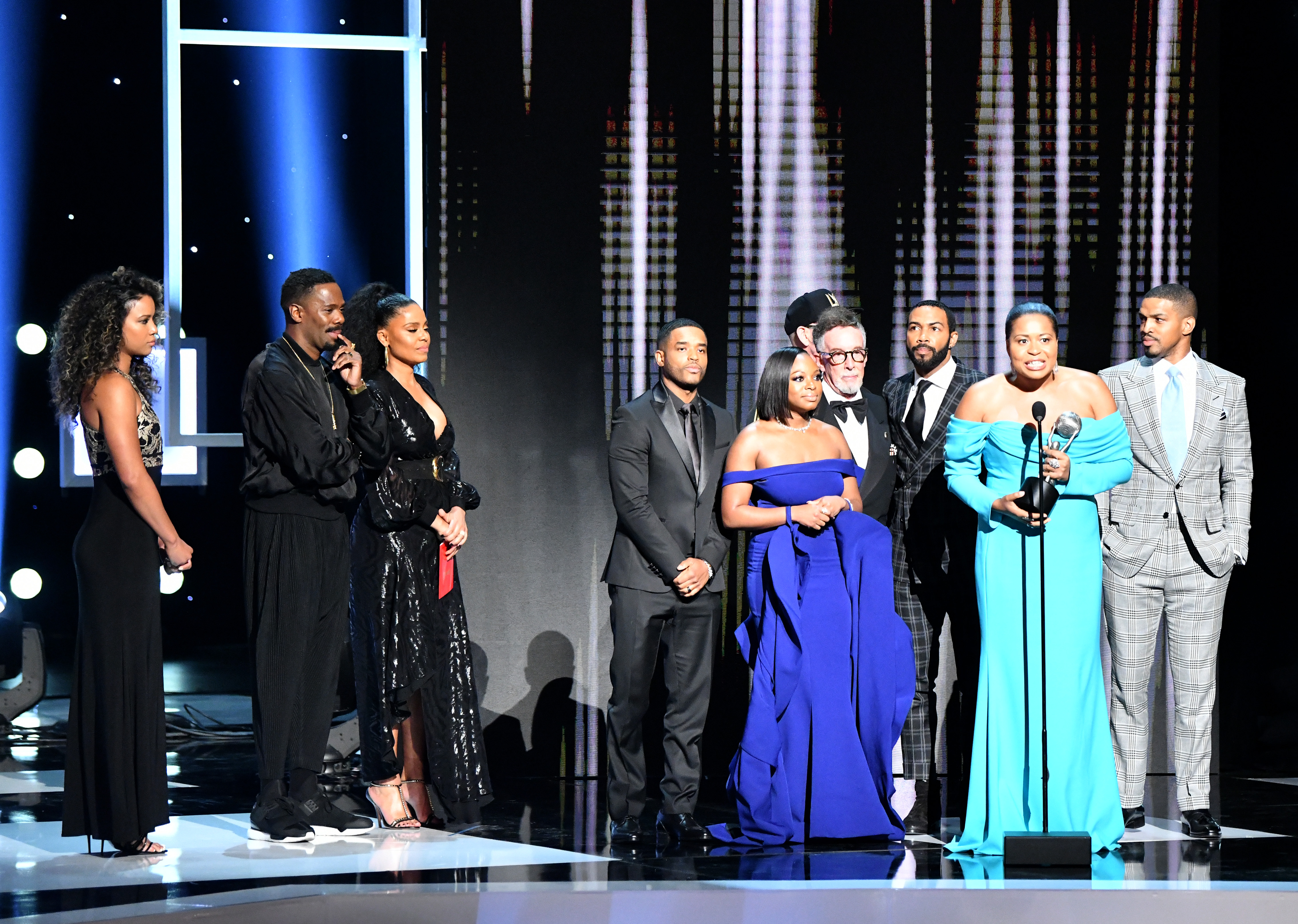HOLLYWOOD, CALIFORNIA - MARCH 30: Cast and crew of 'Power' accept the Outstanding Drama Series onstage at the 50th NAACP Image Awards at Dolby Theatre on March 30, 2019 in Hollywood, California. (Photo by Earl Gibson III/Getty Images for NAACP)