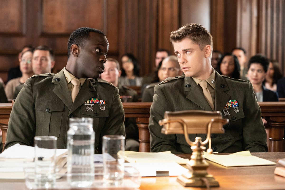 "The Code - Ato Essandoh as Major Trey Ferry and Luke Mitchell as Captain John ""Abe"" Abraham"