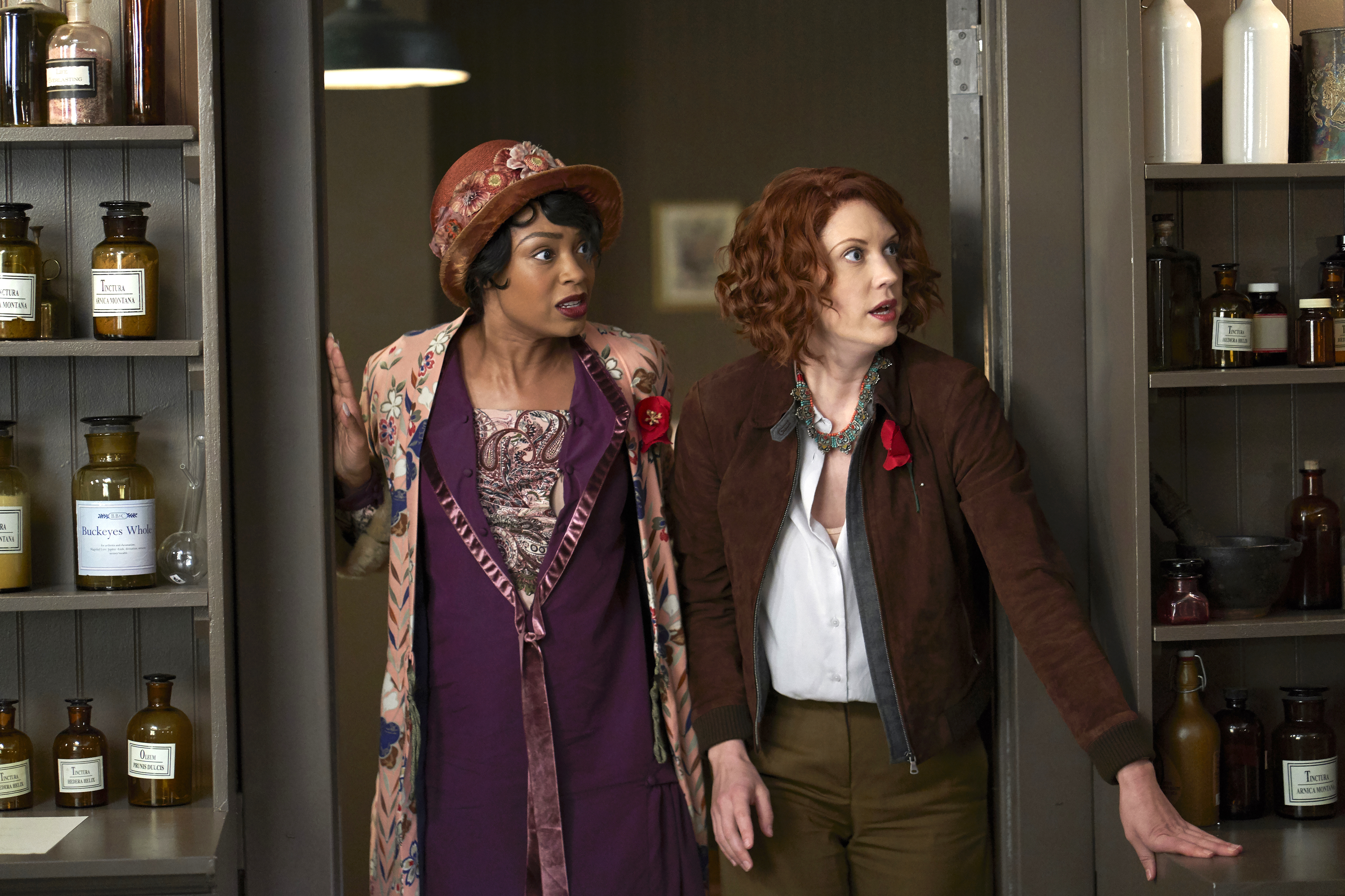 """Chantel Riley and Lauren Lee Smith, """"Frankie Drake Mysteries"""""""