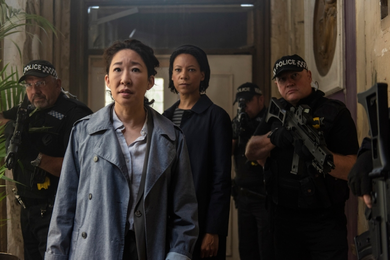 Sandra Oh as Eve Polastri, Nina Sosanya as Jess - Killing Eve _ Season 2, Episode 3 - Photo Credit: Parisa Taghizadeh/BBCAmerica