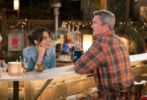 "ABBY'S -- ""Pilot"" Episode --  Pictured: (l-r) Natalie Morales as Abby, Neil Flynn as Fred -- (Photo by: Justin Lubin/NBC)"