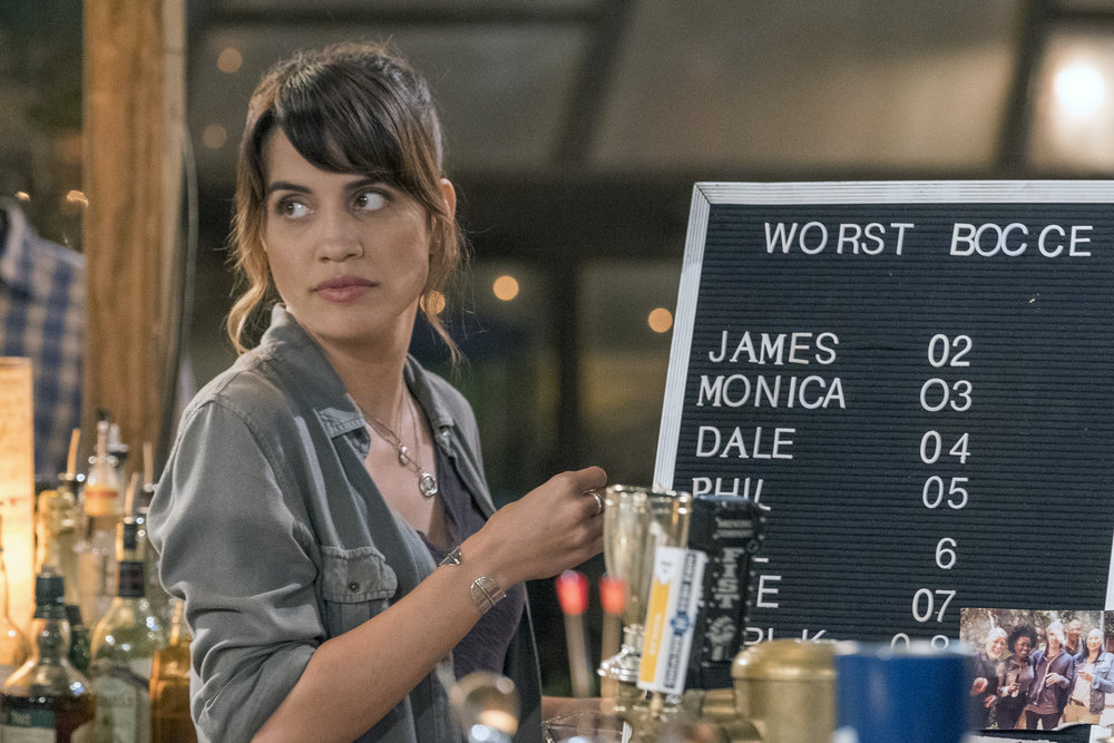 "ABBY'S -- ""Rule Change"" Episode 102 -- Pictured: Natalie Morales as Abby -- (Photo by: Ron Batzdorff/NBC)"