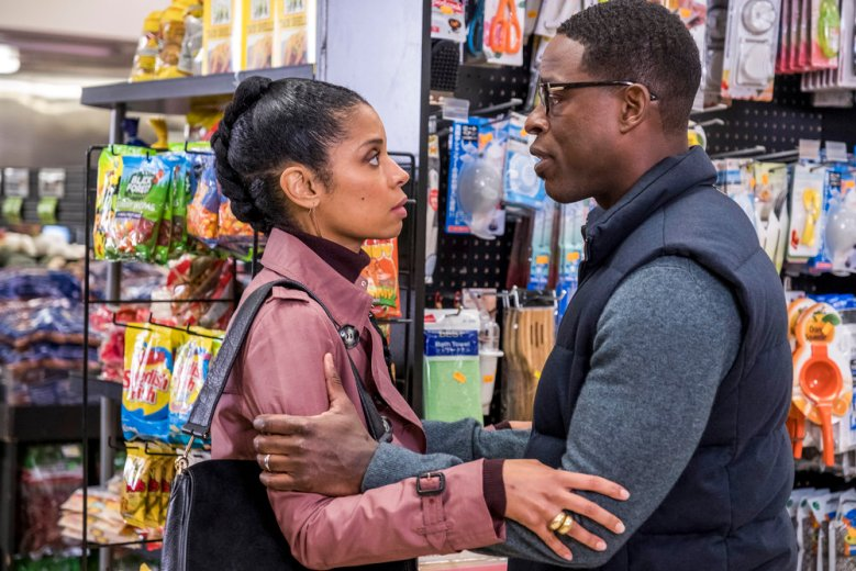 "THIS IS US -- ""R & B"" Episode 317 -- Pictured: (l-r) Susan Kelechi Watson as Beth, Sterling K. Brown as Randall -- (Photo by: Ron Batzdorff/NBC)"